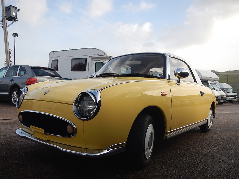 Nissan Figaro Convertible -Sunflower Yellow